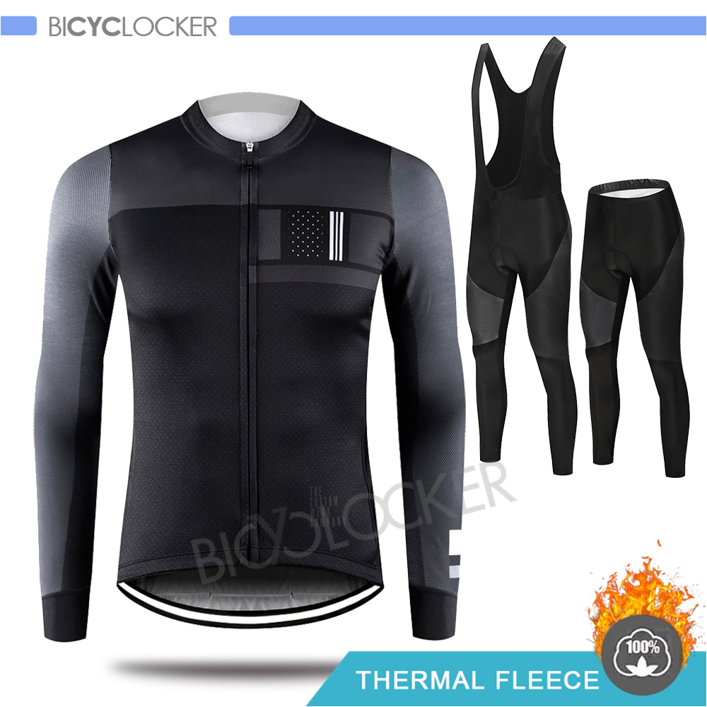 Cycling Clothing Gobiking Winter Long Sleeve Jersey Set Man Thicken Fabrics Thermal Fleece Keep Warm Bike Uniform Ropa Ciclismo|Cycling Sets| |  - title=