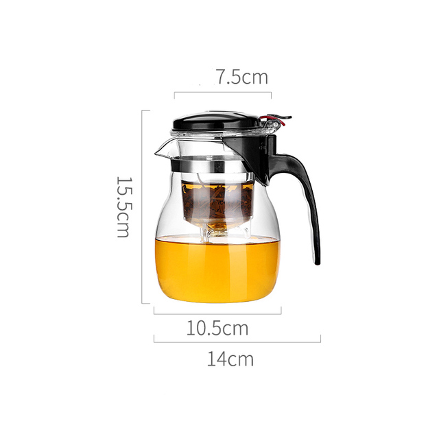 Glass Teapot High quality Heat Resistant Glass Chinese kung fu Tea Set Kettle Coffee Jug Glass Maker Convenient For Office Home 6