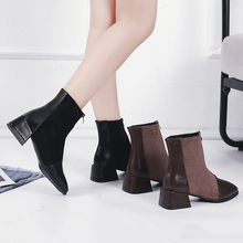 Elegant Ankle Boots Women Fashion High Heels Ladies 2019 New Fall Black Brown Soft Leather Sexy