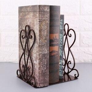 Image 5 - 1 çift taşınabilir Metal Bookends kitap standı tutucu masaüstü raf raf ev ofis malzemeleri