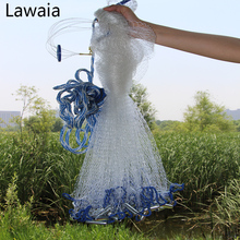 Lawaia Fishing Net Hand Cast Fishing Net Have Sinkers Throwing Cast Nets Have Sinkers Diameter 2.4-7.2m Fishing Casting Net lawaia casting net falling hand throwing net fishing nets diamter 2 4m 4 2m high quality sports korean hand throw fishing net