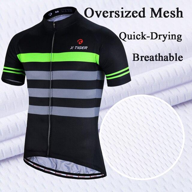 X-tiger 2020 100% poliéster verão ciclismo jérsei conjunto de secagem rápida mtb bicicleta ciclismo roupas de montanha bicicleta esportiva 3