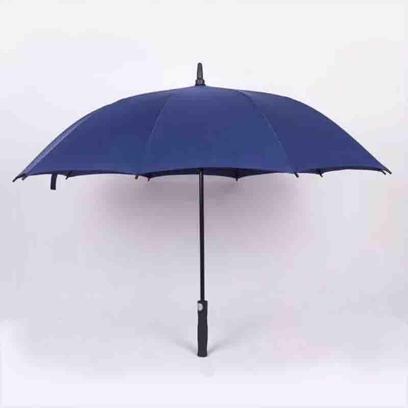 New Style Rain Or Shine Dual Purpose Advertisement Customizable Golf Umbrella 8 Bone Straight Pole College Style Business Golf U