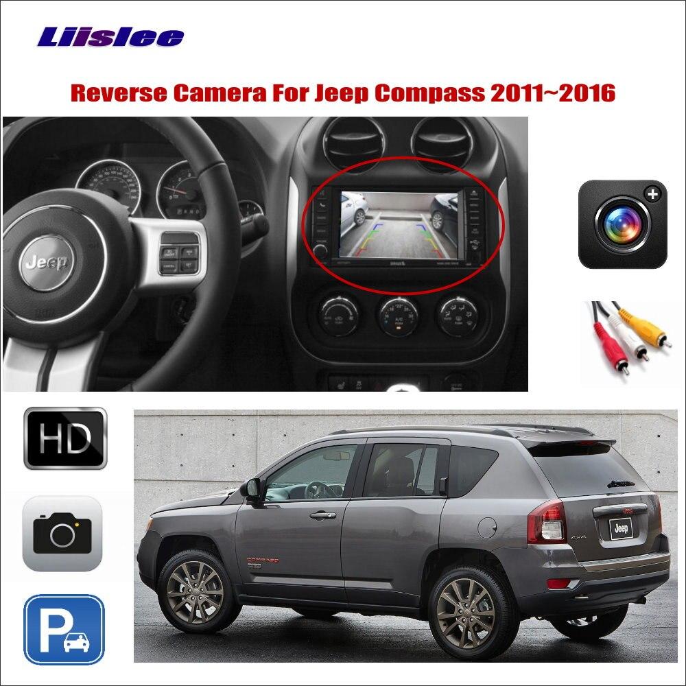 Câmera de visão traseira reversa do carro para jeep compass 2011-2013 2014 2015 2016 compatível com a tela original rca adaptador conector