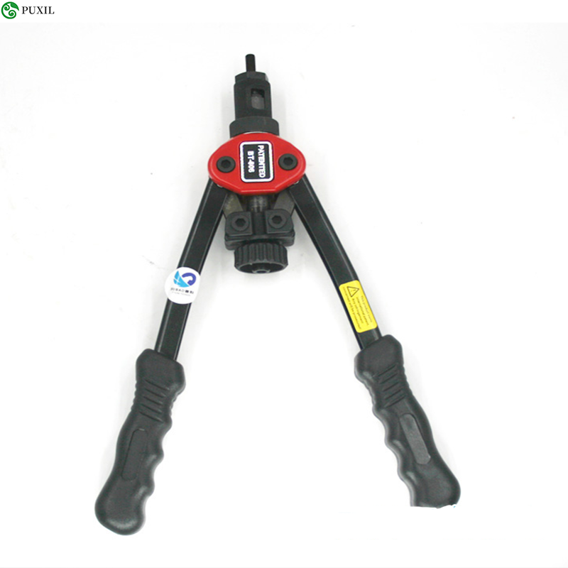 ALLSOME BT-606 Rivet Nut Tool Blind Hand Riveter Hand Riveter Rivet Weapon With 5 Metric Chucks 50 Units Rivnuts