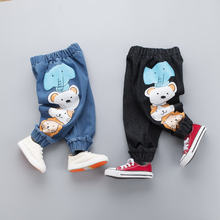 2020 Kids Cartoon Trousers Pant Fashion Girls Jeans Children Boys Cartoon Jeans Kids Fashion Denim Pants Baby Infant Clothing cheap anrayan COTTON Loose Unisex PATTERN Full Length Fits true to size take your normal size Elastic Waist Harem Pants XX20190590XYF