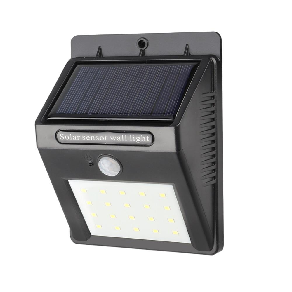SXZM 1PCS/2PCS 20 Leds Outdoor Solar Lamp PIR Motion Sensor Wall Light Waterproof Solar Powered Sunlight For Garden Decoration