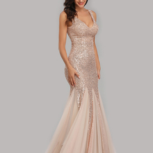Cocktail-Dress Party-Gown Sequins Robe-De-Soriee Mermaid Formal Evening Sexy Long Plus-Size