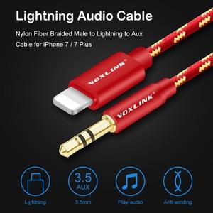 Image 2 - Voxlink aux cabo do carro para iphone x xs xr 8 7 plus 1 m/3ft 8 pinos para 3.5mm macho jack cabo de áudio para iphone 7 6 alto falante fone de ouvido