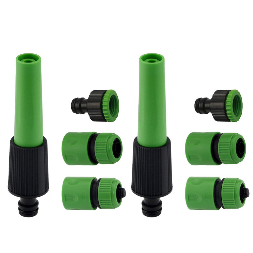 8 stücke Kunststoff Schlauch Spray Set Garten Schlauch Rohr Armaturen Düse Stecker Wasser Sprayer Outdoor Auto Washer Kit Haushalt (rando