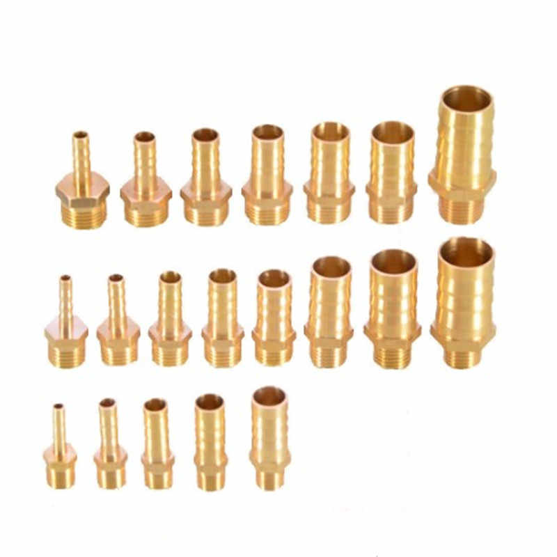 "Brass Pipe Fitting 4/6/8/10/12/14/16/19mm Hose Barb Tail 1/8"" 1/4"" 1/2"" 3/8"" BSP Male Connector Joint Copper Coupler Adapter"