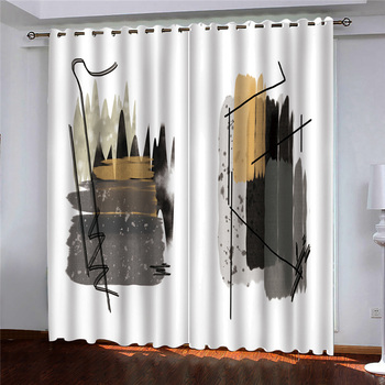 customize 2020 Abstract minimalism black out curtains for bedroom living room home goods Blackout any window curtains