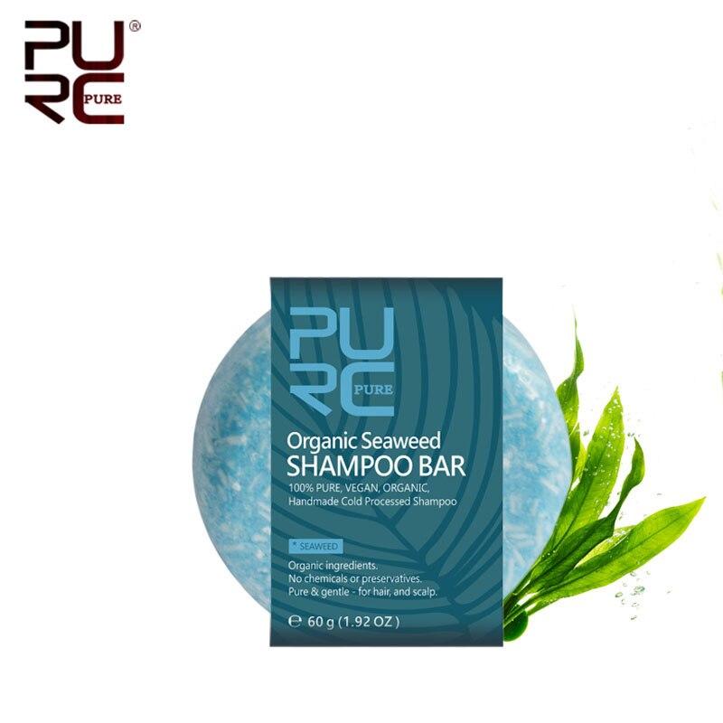 11.11 PURC hiçbir kimyasal veya koruyucular organik deniz yosunu şampuan Bar Vegan el yapımı soğuk işlenmiş şampuan sabunu