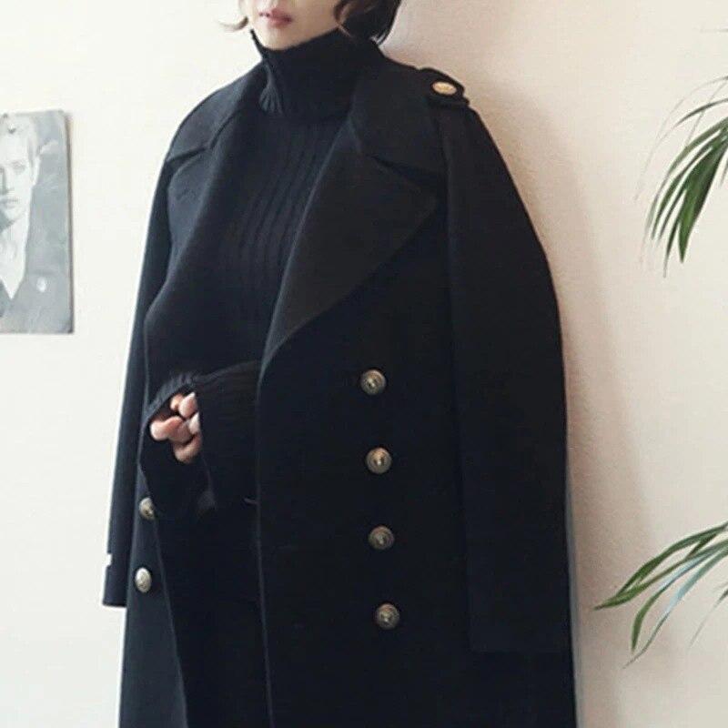 Негабаритных Женская утолщенное теплое шерстяное пальто средней длины выше колена шерстяное пальто 200 кг в наличии|Пальто| | АлиЭкспресс