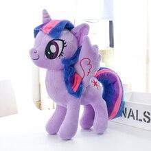 Милые большие глаза Единорог Лошадь фиолетовая принцесса Kawaii Плюшевые Детские игрушки кукла день рождения праздник Рождество маленький подарок