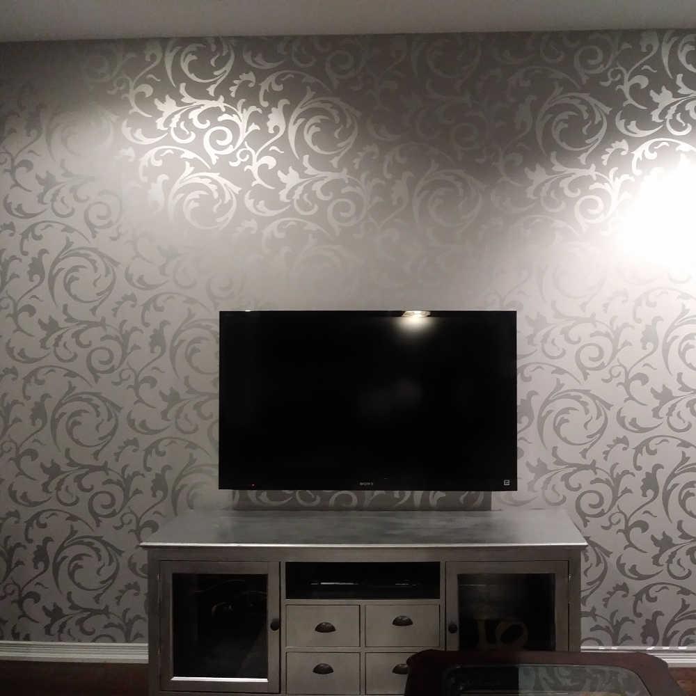 Alta calidad 0,6 m * 10m moderno de lujo 3d papel pintado rollo mural papel de parede flocado para papel de pared a rayas 5 colores R136