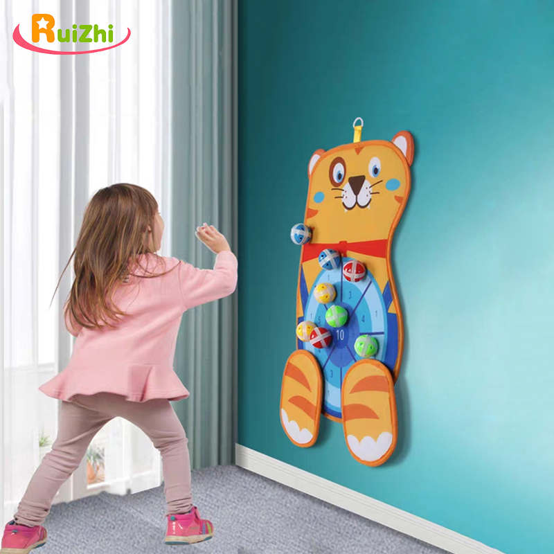 Ruizhi 3 Styles Children Throwing Ball Cute Animal Sticky Target Parent-Child Indoor Game Baby Outdoor Sports Kids Toys RZ1229