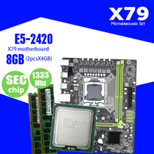 Kllisre X79 motherboard set with Xeon LGA 1356 E5 2420 C2 2x4GB=8GB 13