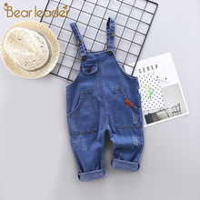 Denim Overalls Jeans Jumpsuit Girls Bear Kids Summer Children Cotton Leader Loose Boys