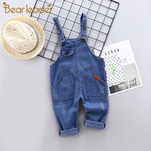 Джинсовый комбинезон для маленьких девочек bear leader детский