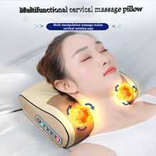 Massage  Relaxation Heating Neck Shoulder Back Body Electric Massage Pillow Shiatsu Massager Device Cervical Healthy Relaxation