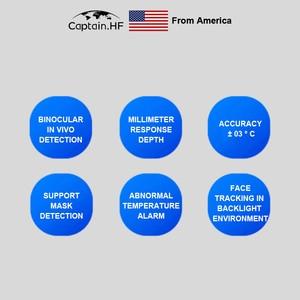 Image 5 - US Captain Infrared Human Body Temperature Measurement Face Recognition Access Control  WebCam, Sensitive Touch Video Camera