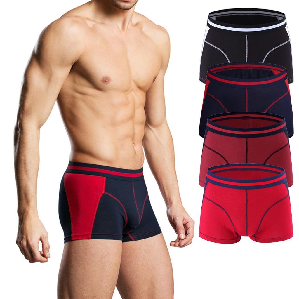 men's underwear cotton comfortable boxer jockstrap Men's Hot Fashion Colourful Sex Solid Comfortable 95% Cotton Underwear