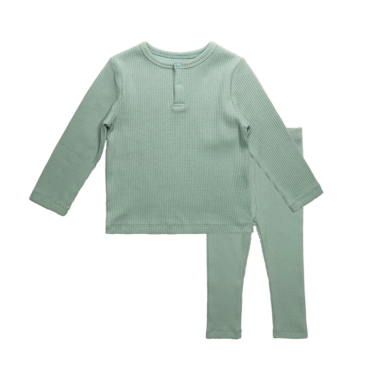 Soft Ribbed Toddler Girl Pajamas For Baby Boys Clothes Set Autumn Winter Children Outfits Long Sleeve Tops Pants 2 Pcs Kids Suit (27)