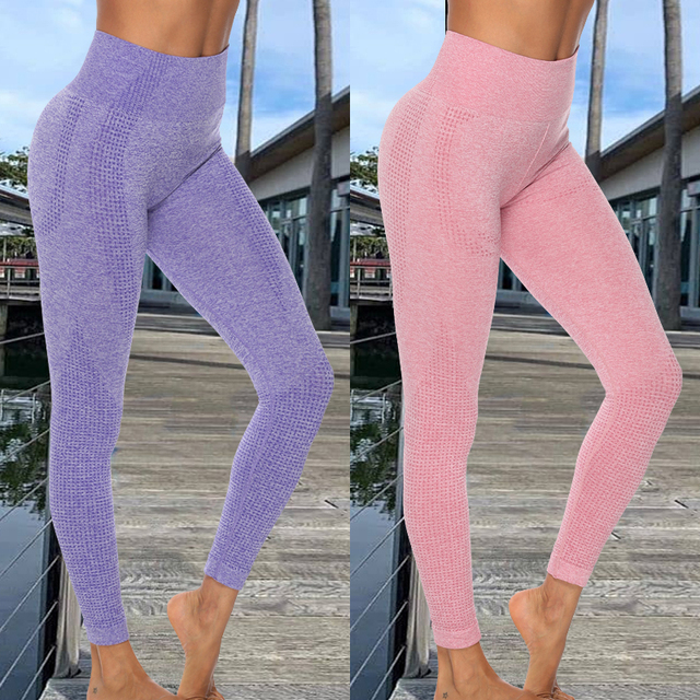 Women Seamless Leggings Tummy Control Yoga Pants High Waist Breathable Leggins Sport Fitness Gym Athletic Tights Drop Shipping 1