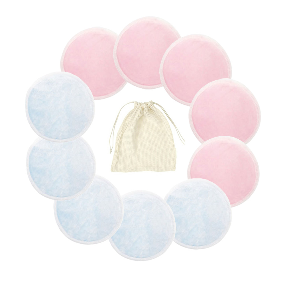 10/15 PCS Reusable Pads Makeup Remover Pads Washable Round Bamboo Make Up Pads Cloth Nursing Pads Skin Care Tool Skin Cleaning