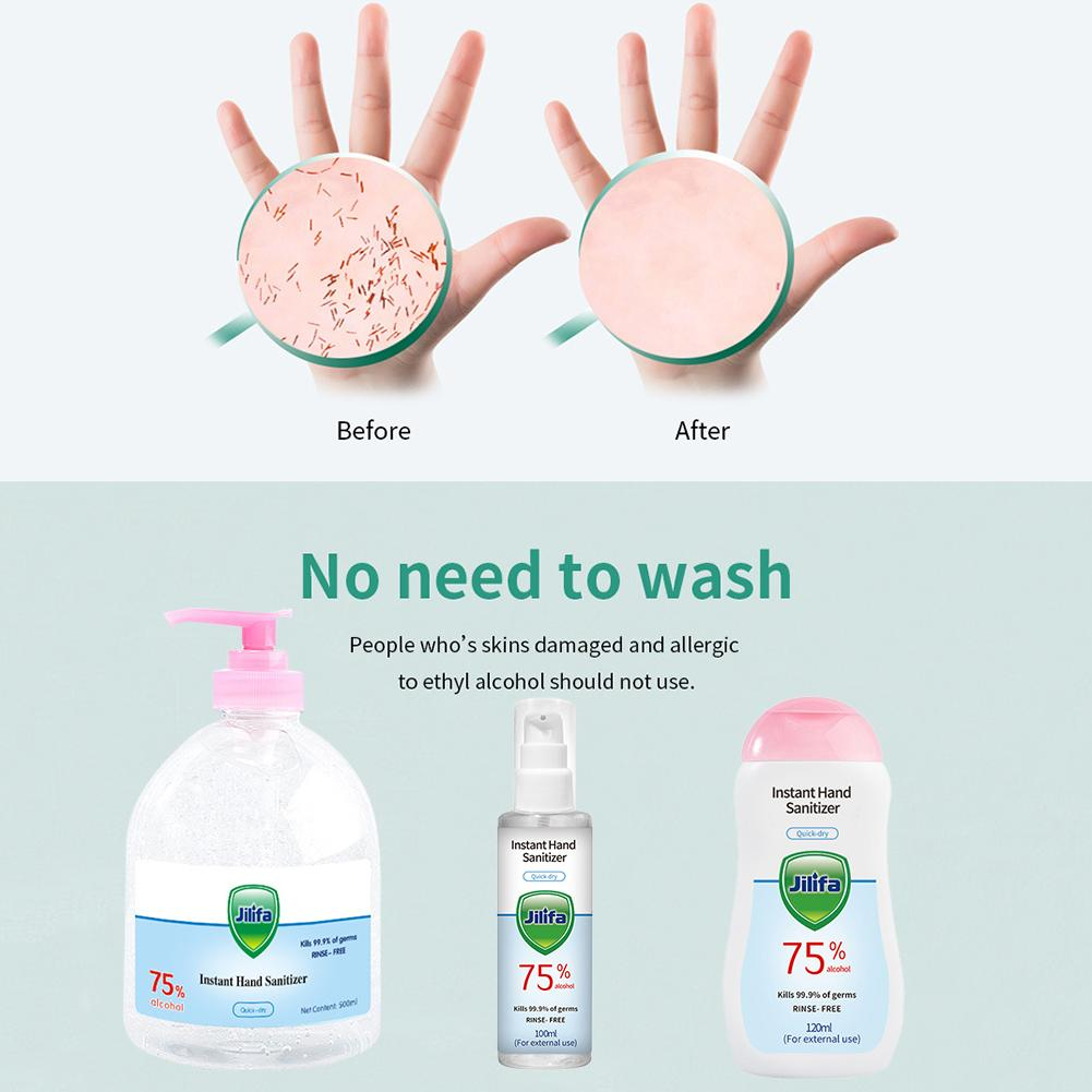 500 Ml Disposable Hand Sanitizer Rinse Free 75% Alcohol Hand Soap Hand Wash Gel For Home Travel Instant Cleaning