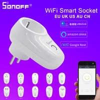 Sonoff S26 Presa Intelligente Wifi Wireless Us/Uk/Cn/Au/Eu/Il/Ch/ it/Br Spina/Interruttore Smart Home, Casa Intelligente App Telecomando per Google Assistente