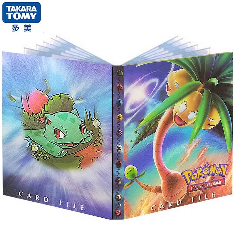 240 pièces classeur Pokemon porte-carte Anime carte Exeggutor jeu de carte Album livre classeur dossier chargé liste Collection enfants jouet
