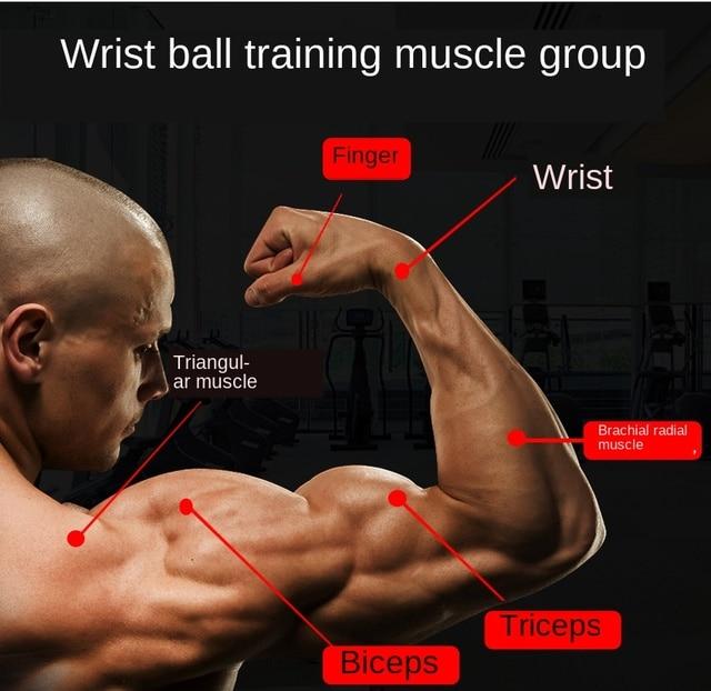 Wrist Power Ball Gyroscope Ball Metal Arm Muscle Relax Exerciser Self-Starting  Gym Hand Exerciser Gyro Ball Meter Counter
