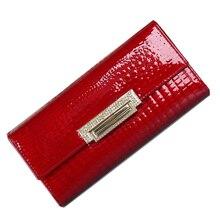 Portefeuille en cuir véritable pour femmes, long, portefeuille 2020, porte monnaie, diamant