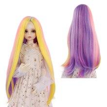 Accessoires de poupée 1/3 1/4 Bjd, cheveux de poupée haute température mode longue couleur lisse Bjd perruque SD pour poupée