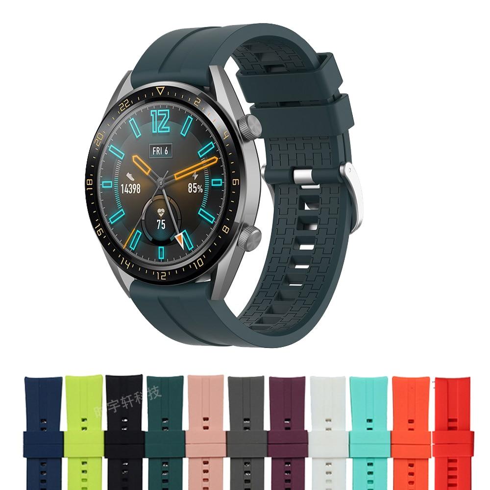 Ремешок для наручных часов Huawei Watch GT 42 мм 46 мм, спортивный браслет для смарт-часов huawei watch GT 2 GT2 46 мм, 22 мм