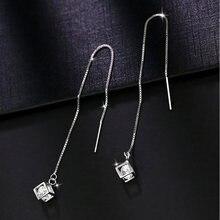 Женские серьги из стерлингового серебра 925 пробы Роскошные