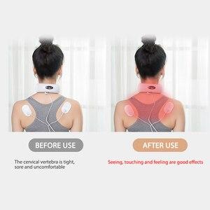 Image 3 - Aptoco Elektrische Pulse Zurück und Neck Massager Fernen Infrarot Schmerzen Relief Werkzeug Gesundheit Pflege Entspannung