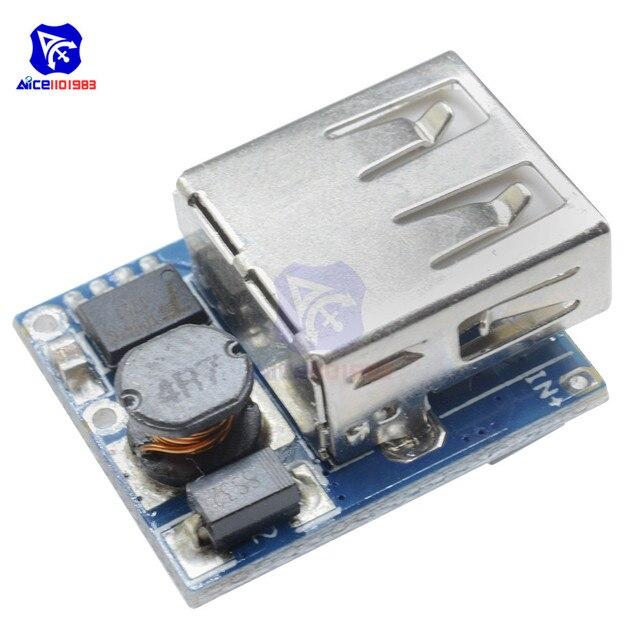 Diymore USB 5 فولت 1A تصعيد دفعة محول وحدة امدادات الطاقة المصغّر USB 18650 ليثيوم شاحن بطارية لوح حماية