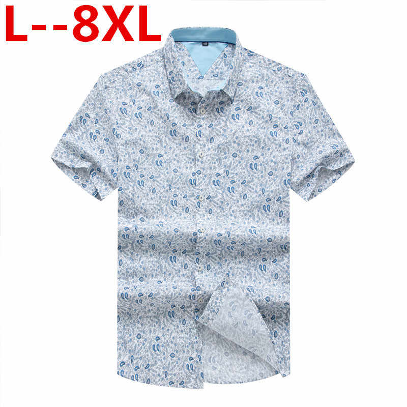 8XL 6XL 5XL 4XL mężczyzna koszula hawajska mężczyzna dorywczo camisa masculina drukowane koszule plażowe z krótkim rękawem marki odzież darmowa wysyłka