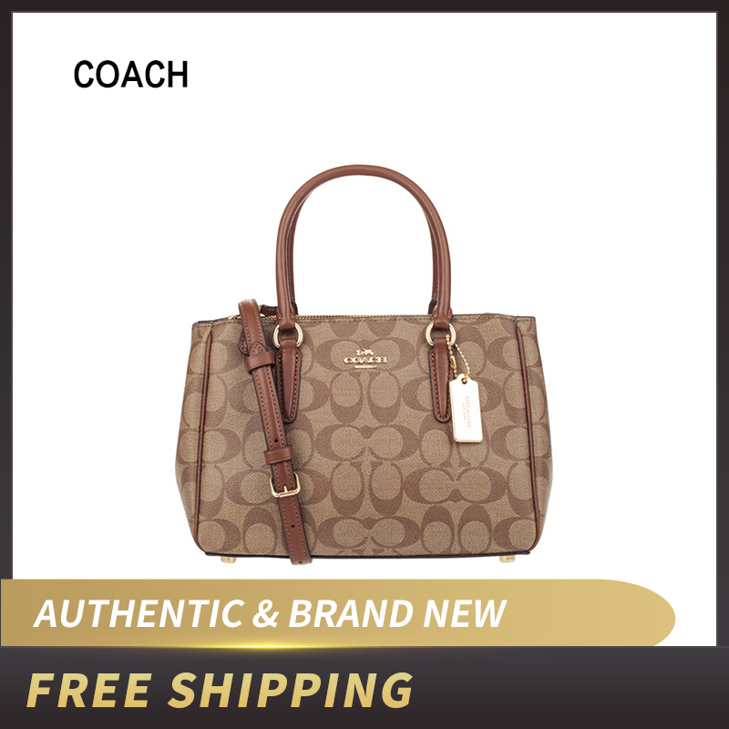 Authentic Original & Brand New Coach Signature Mini Surrey PVC Leather Satchel Handbag Women's Bag Crossbody Bag F67027/F46282