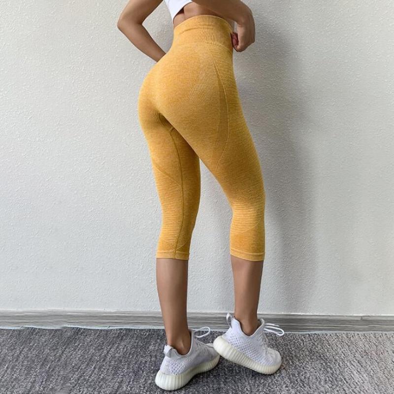 Brand Tights Woman Sports Fitness Yoga Pants Workout Gym Leggings Sport Women Fitness Seamless Sport Leggings Capris 3/4 Pants