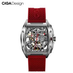 CIGA Design Top Design CIGA Mechanische Uhr Z Serie Uhr Barrel Typ Doppel-Seitig Hohl Automatische Mechanische Männer Uhr