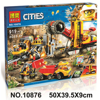 10876 919pcs Compatible 60188 Mining Experts Site Lepining City Mining Building Blocks Bricks Toys Model For Kids As Gifts