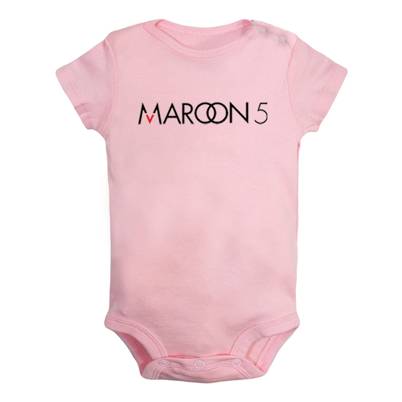 Maroon 5 Rock Band The <font><b>Flash</b></font> <font><b>Barry</b></font> <font><b>Allen</b></font> Printed Newborn Baby Girl Boys Clothes Short Sleeve Romper Outfits 100% Cotton image