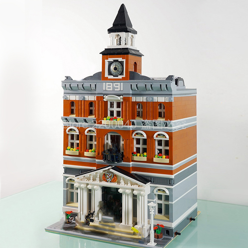 In Stock 15003 3000+Pcs City Series The Town Hall Model Building Blocks Bricks Children Toys Gifts Compatible 10224