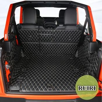 Hoge Kwaliteit! Speciale Kofferbak Matten Voor Jeep Wrangler Jl 4 Deur 2020-2018 Waterdichte Lijnvervoer Boot Tapijten Voor Wrangler 2019