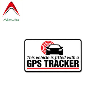 Aliauto Warning Car Sticker GPS Tracker Fitted Decal Accessories PVC for Vw Volvo Honda Civic Mitsubishi Lada Mazdam,11cm*6cm image