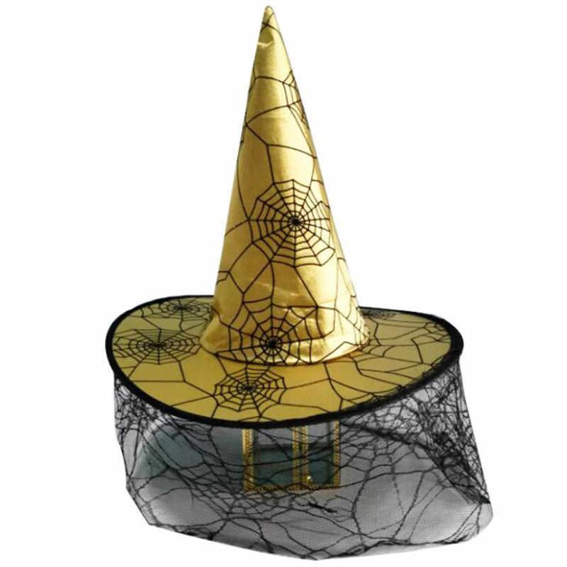Шляпы ведьмы; маскарадная лента; Шляпа Волшебника для взрослых и детей; карнавальный костюм; аксессуары для Хэллоуина; нарядное платье; декор